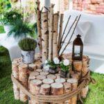 Votre déco jardin DIY avec des rondins de bois !