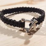 Cadeau express : le bracelet homme en cuir tressé en macramé