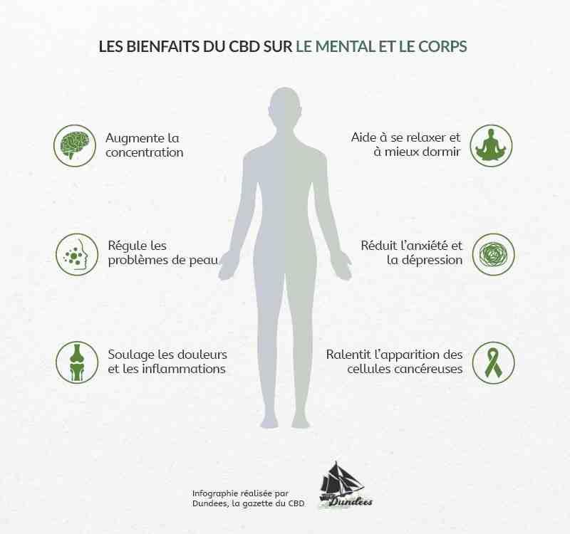 Quels sont les effets du CBD sur le corps humain ?